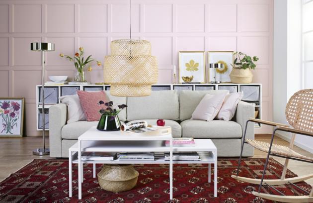 Ručně splétaná lampa Sinnarlig je vyrobená z bambusových vláken, design Ilse Crawford, výkon 60 W, cena 1 490 Kč, www.ikea.cz