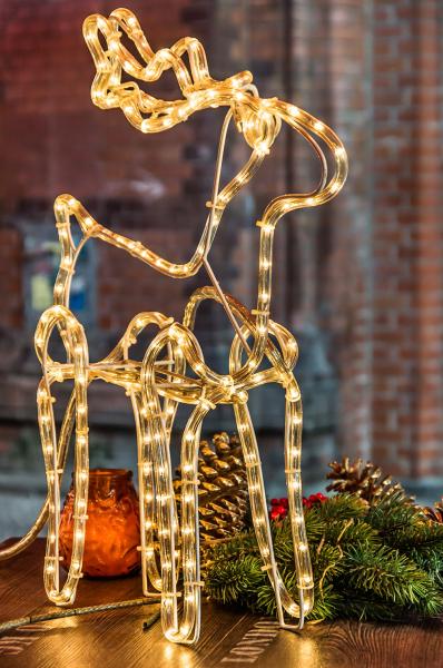 Ať už je to vánoční stromeček, hvězdy, vločky spadajícím efektem, letící komety, zvonky, andělé, sněhuláci nebo svítící sobi, jsou většinou tvořeny světleným kabelem nanosné konstrukci, který je upraven dopožadovaného tvaru abarev. Předností LED diod je to, že svítí velmi úsporně, mají dlouhou životnost anevyžadují údržbu, atak vám nic nebrání užít si vánočně vyzdobenou zahradu vevelkém. Mají sice vyšší pořizovací cenu, ale ta se vám brzo vrátí vpodobě uspořených peněz zaenergie.