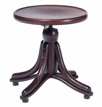 Klasická stolička k pianinu Piano z ohýbaného dřeva, výška 43 až 63,5 cm, cena 3 810 Kč, www.ton.cz