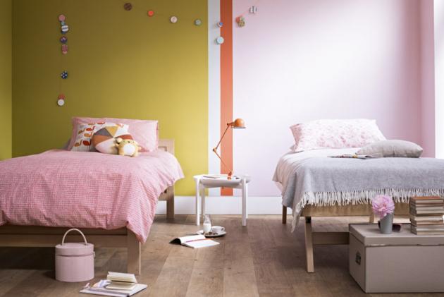 Pastelové barvy působí neutrálně apřívětivě, jsou tedy přímo stvořené pro ložnici nebo dopokoje neklidného dítěte