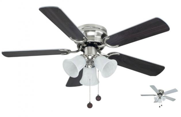Sulion 075660 WESTLAND, šedá a ořech, stropní ventilátor se světlem