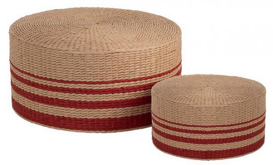 Sada 2 pufů Paper Red, 2599 Kč, www.westwing.cz