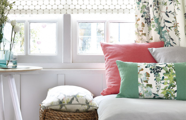 Textil je součástí celého interiéru aje skvělým nástrojem kjednoduché proměně interiéru.
