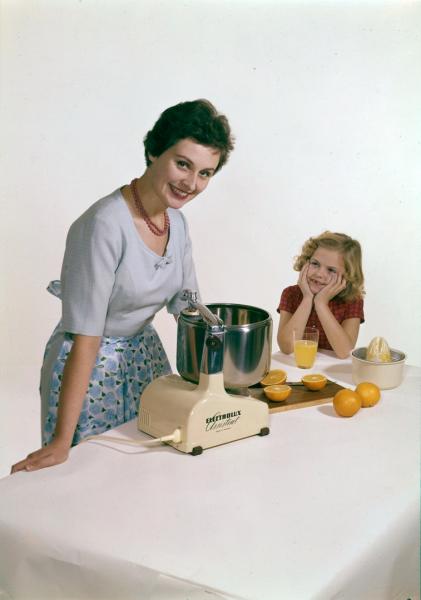 Vlajkovou lodí značky Electrolux se stává kuchyňský robot, o jehož design se zasloužil švédský designér Alvar Lenning. Vpodstatě zmenšil profesionálního robota do podoby malého domácího spotřebiče.