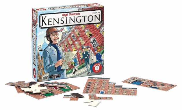 KENSINGTON 549 Kč.Hra pro 2-5 hráčů od 8 let. Strhující závod stavitelů o nejimpozantnější stavbu londýnské městské části Kensington.Cílem je postavit z jednotlivých dílků co největší budovu.