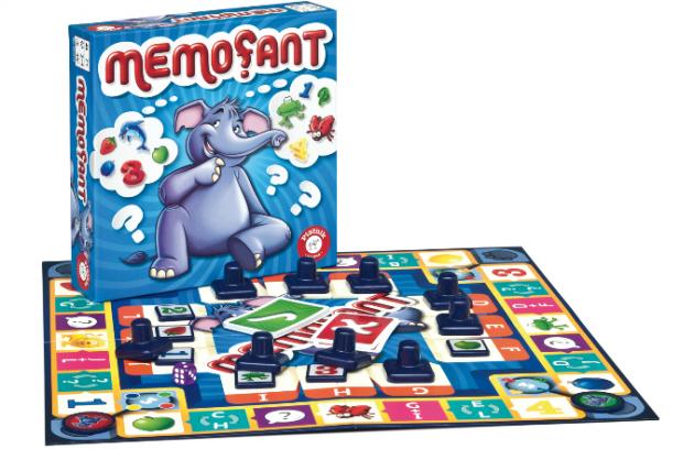 MEMOFANT 499 Kč. Desková hra pro 2-4 hráče od 7 let, která trénuje vizuální paměť, když si má hráč za 60 vteřin zapamatovat polohu 12 různých obrázků, která se neustále mění. Vyhrává hráč, která si udrží nejlepší přehled.