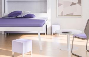 Zdvihací postel VOGA LIFT BED selektrickým mechanismem je určená do malých bytů a přispívá k efektivnímu využití místa.