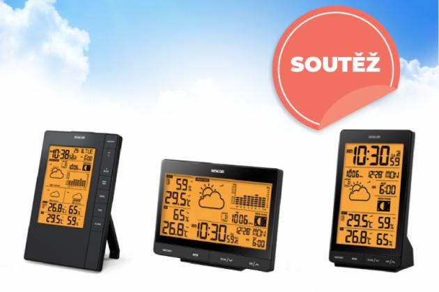 Ve spolupráci se značkou SENCOR jsme pro vás připravilisoutěžo 3 elektronické domácí barometry se spoustou informací.