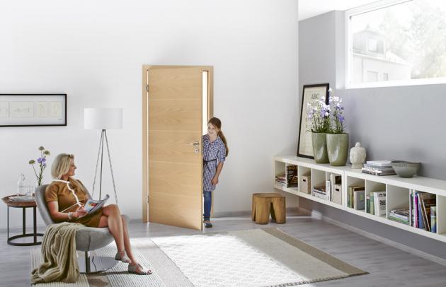 Jednokřídlé dveře Hörmann zřady Milieau, různé povrchové úpravy,  cena od2294Kč, www hormann.cz