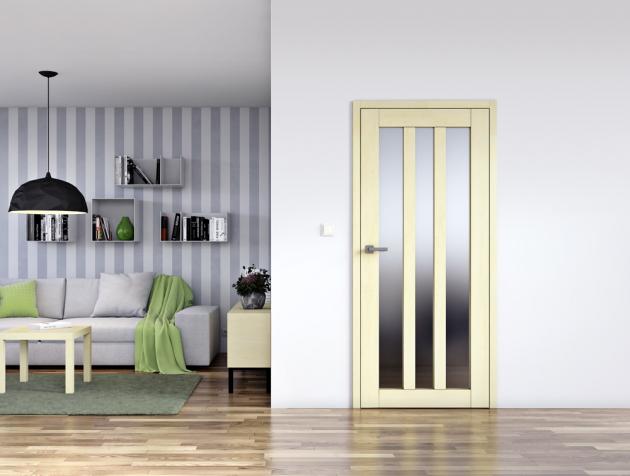 Jednokřídlé prosklené dveře Sapeli Kubika, provedení dýha javor evropský, cena 15670Kč, www.sapeli.cz