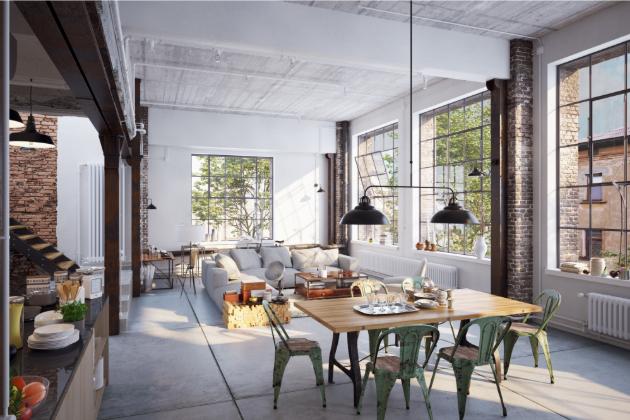 Interiéry v industriálním stylu