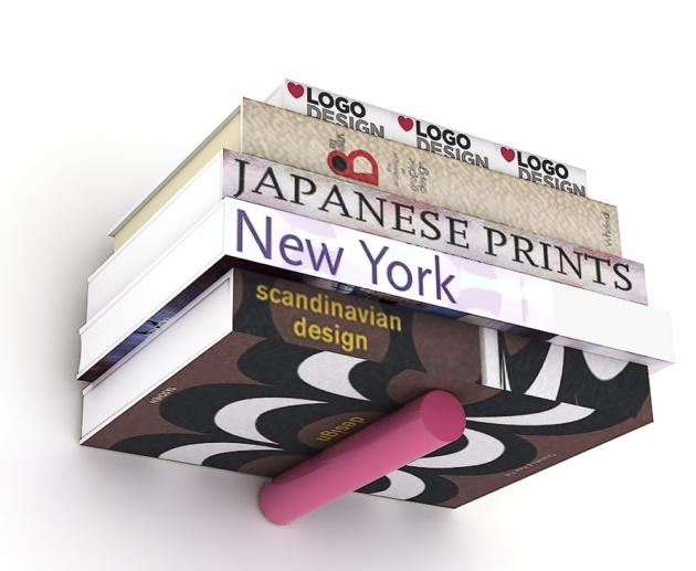 Polička na knihy Houdini, bukové  dřevo/kov, 11 x 16 x 11 cm, cena 599 Kč,  www.bonami.cz
