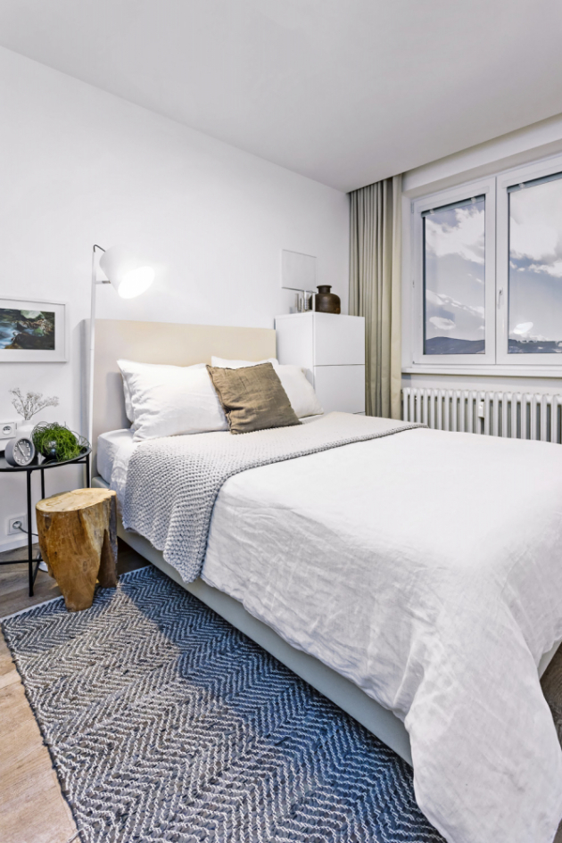 Z útulné ložnice se můžete přímo z postele kochat úchvatným výhledem na zalesněné Beskydy
