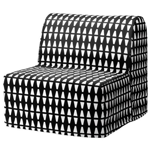 Díky pěnové matraci a rozkládací konstrukci lze z křesla Lycksele Håvet (Ikea) udělat lůžko, 188 × 80 cm, cena 4 490 Kč, www.ikea.cz