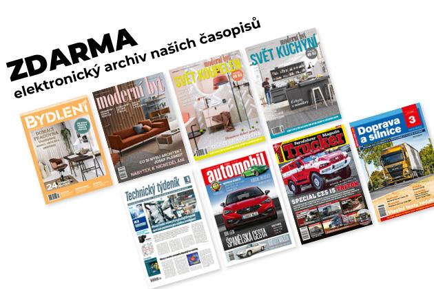 Vzhledem kmimořádné situaci jsme se rozhodli zpřístupnit ZDARMA elektronický archiv našich časopisů pro všechny zájemce. A to do 31. 12. 2020. Každému z Vás, kdo projeví zájem a pošle nám e-mail na info@bmczech.cz, vytvoříme bezplatně účet na stránce ecasopisy.businessmedia.cz. Systém Vám následně zašle elektronickou poštou přístupové údaje. Věříme, že Vám toto opatření pomůže alespoň trochu zpříjemnit následující období.