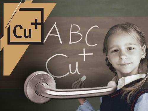 Antibakteriální vlastnosti CU+ přivítají i rodiče často nemocných dětí, které jsou náchylné kdalším onemocněním. Kliky samozřejmě nepomohou proti alergiím, ale antibakteriální účinek CU+ při použití u domácích koupelen, toalet nebo třeba dětských pokojů představuje jasnou přidanou hodnotu.