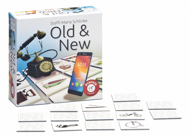 Pexeso s vynálezy pro 2-6 hráčů od 8 let Mnoho vynálezů, které denně využíváme, a zásadním způsobem nám usnadňují život, se během desetiletí velmi změnilo. Pro tuto paměťovou hru bylo vybráno 27 těchto vynálezů. Najdeš starý a nový telefon, které k sobě patří? Vyhrává ten, kdo našel nejvíc dvojic.