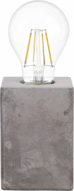 Keramickou základnu se vzhledem betonu má svítidlo Prestwick (Eglo), 13 × 9 × 9cm, cena 429Kč, www.hornbach.cz