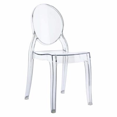 židle s barokními liniemi Ghost II, materiál polykarbonát, cena 3 183 Kč, www.designovynabytek.cz