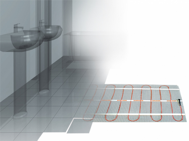 Topná rohož s výkonem 160 W/m2 je určená pro použití v koupelnách a kuchyních, www.fenixgroup.cz