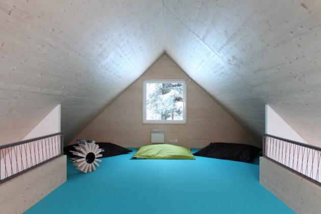 V domě jsou dvě ložnice s pohodlnými dvoulůžky. (Fotografie: Lina Németh)