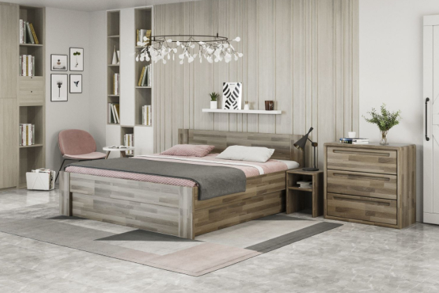 Tvrdost dřeva je zásadní, protože ovlivňuje kvalitu, pevnost a životnost postele. Proto doporučujeme vybírat tvrdší dřeviny, které jsou velmi odolné. Patří sem buk, dub, javor a jasan. Ať zvolíte jakýkoliv typ, neuděláte chybu. Získáte tak jistotu, že vám postel vydrží klidně po celý život a neztratí na své kráse. Každá z nich se liší v jejich specifické struktuře a tvrdosti. Záleží tedy také na vašem vkusu.