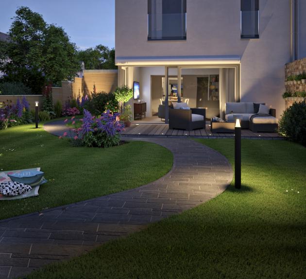 Sloupkové LED svítidlo ze série Cone (Paulmann) pro zapojení do systému Plug&Shine, výška 110 cm, cena 3 514 Kč, www.60.cz