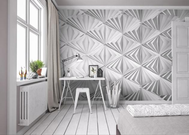 Papírová fototapeta Delta (Komar)  s3D efektem Origami, 368 × 254cm,  cena 1199Kč, www.tapetymetroflorenc.cz