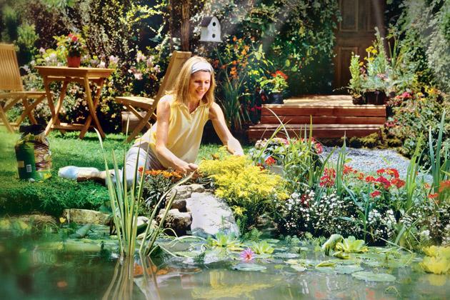 Suché období trápí nejednoho zahradníka, ale existuje řešení v podobě zahradního jezírka, které pomůže zahradě, rostlinám i živočichům přečkat nejhorší horka.
