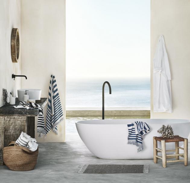 Kolekci pruhovaných ručníků a osušek najdete na www2.hm.com