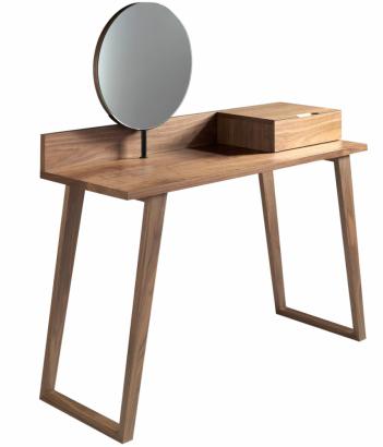 5. Designový toaletní stolek Sully (Ángel Cerdá), ořechová dýha, 45 × 126 × 120 cm, cena 16 499 Kč, www.bonami.cz