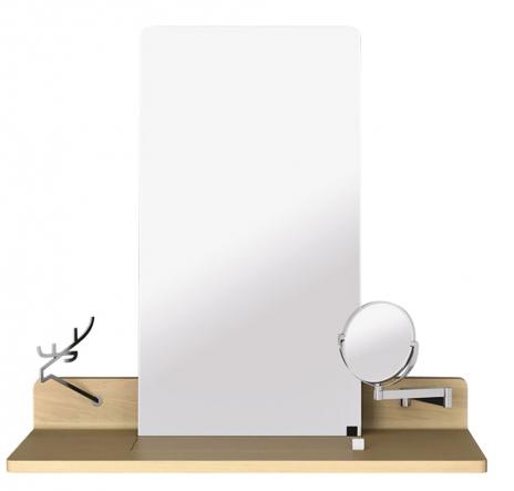 4. Nástěnný stolek Amanta (Nábytek Jelínek), design Jaroslav Juřica, masivní dub, 43 × 105 × 100 cm, cena 35 420 Kč, www.jejinek.eu