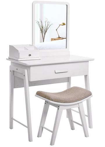 6. Skandinávský design napodobuje stolek Eleanor Aquitaine s taburetem, 80 × 50 × 135 cm, cena 4 690 Kč, www.therese.cz