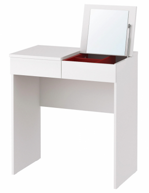 3. Toaletní stolek Brimnes, dřevotříska / ABS plast / fólie, 70 × 42 cm, cena 1 490 Kč, www.ikea.cz