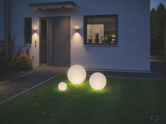 Venkovní bodové osvětlení Plug and Shine Globe IP67 3000K