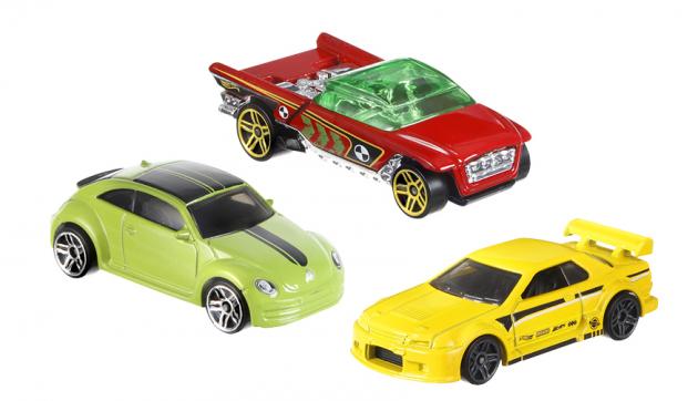 Autíčka Hot Wheels, sada tří kusů, Mattel Cena 199 Kč, www.mall.cz
