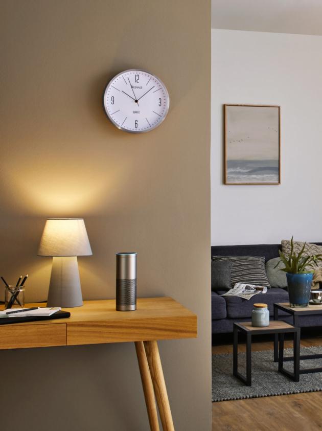Inteligentní technologie Alexa umožňující změnit náladu osvětlení pomocí hlasového ovládání, více na www.paulmann.com