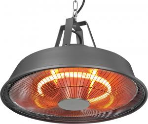 Terasový zářič Eurom Karbon 1 500 W je určen k zavěšení na strop, jedná se o tichý, rychlý a spolehlivý zdroj tepla, cena 2 190 Kč, www.hornbach.cz