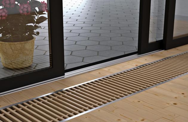 Podlahový konvektor KORAFLEX FV (Korado) s ventilátorem a optimalizovanou konvekcí, cena od 9 649 Kč, www.korado.cz