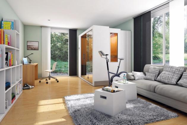 Originálním a praktickým řešením je výsuvná sauna S1, která se po stisknutí tlačítka za 20 vteřin vysune na hloubku 115 cm, www.aquamarinespa.cz