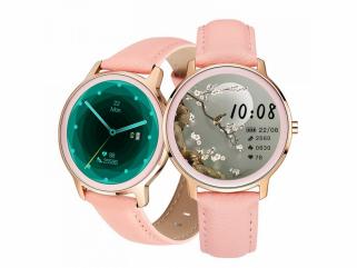 Chytré hodinky Deveroux R18 v růžovém provedení nabízí řadu pokročilých a zdravotních funkcí.