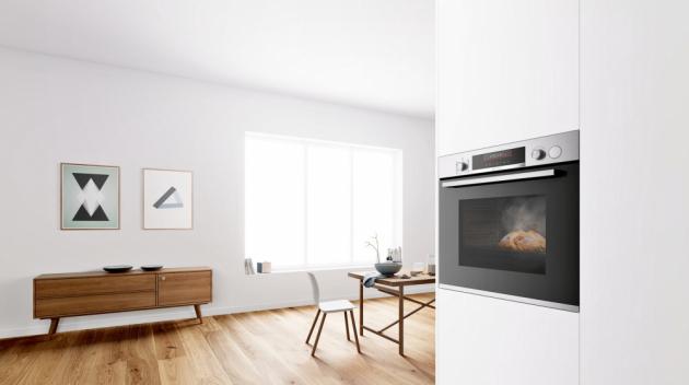 Trouba HRG5184S1 (Bosch), přídavná pára s funkcí AutoPilot, snadno udržovatelný hladký vnitřní povrch, cena 22 990 Kč, www.bosch-home.com/cz