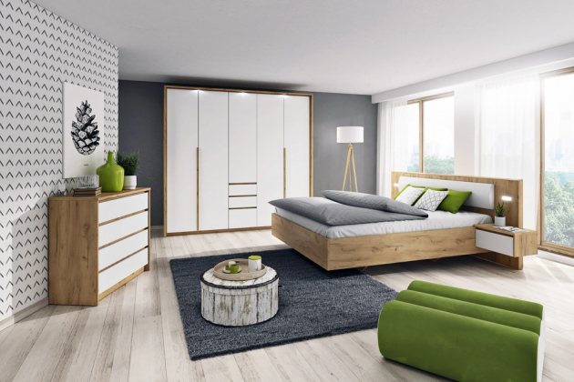 Nábytkový program Xelo, laminovaná dřevotříska LDTD, postel, 160x200 cm, cena 7 250 Kč, šatní skříň, cena 16 750 Kč, www.jena-nabytek.cz