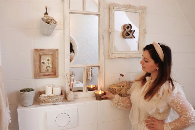 V rustikální koupelně maďarské blogerky