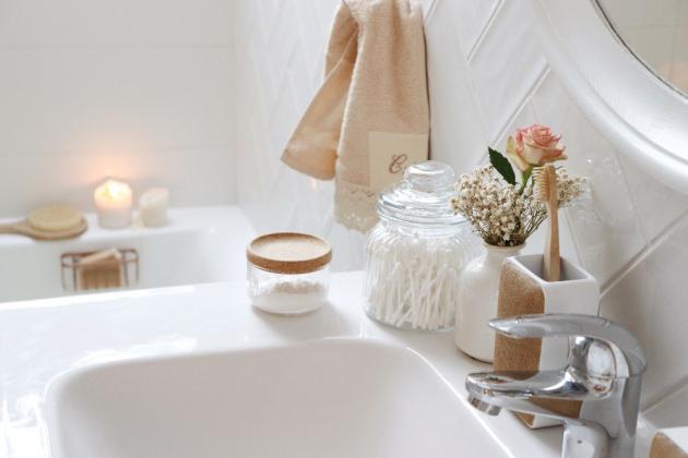 Z koupelny vyzařuje naprostá pohoda, uvolněnost a klid. (foto Bonami/Pastellmama)