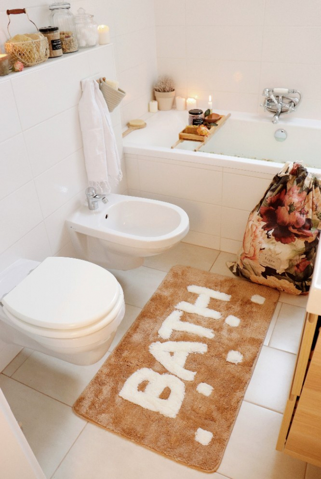 Na návštěvě v rustikální koupelně u blogerky Pastellmama (foto Bonami/Pastellmama)