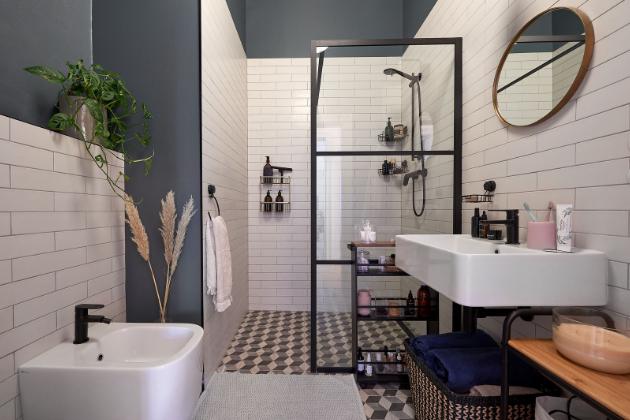 Industriální koupelna české blogerky Kitchenette (foto: Bonami, Kitchenette))