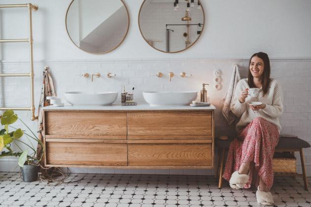 V mid century koupelně u blogerky Anii Dominik