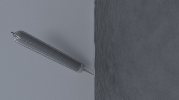 11 Vyplnění  Vzniklá spára se vyplní systémovým protipožárním akrylovým tmelem TYTAN QSA 141. Čerstvý tmel se zapraví stěrkou. Po vyzrání omítek se stěna vymaluje.