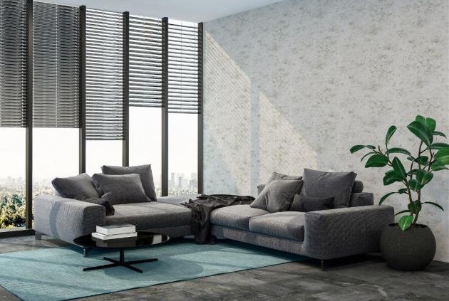 Styl Cool Down: Vliesová tapeta, beton